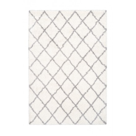 Graphic Guinea rectangular carpet woven by machine (ivory)
