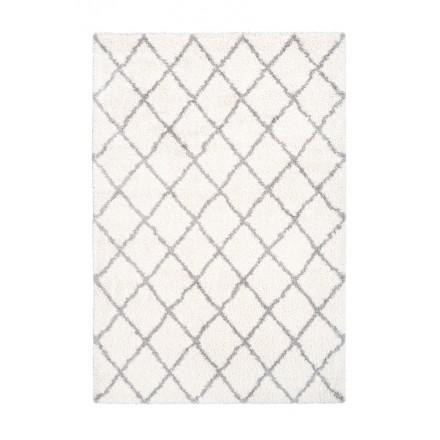 Grafischen Guinea rechteckig Teppich gewebt maschinell (Elfenbein)