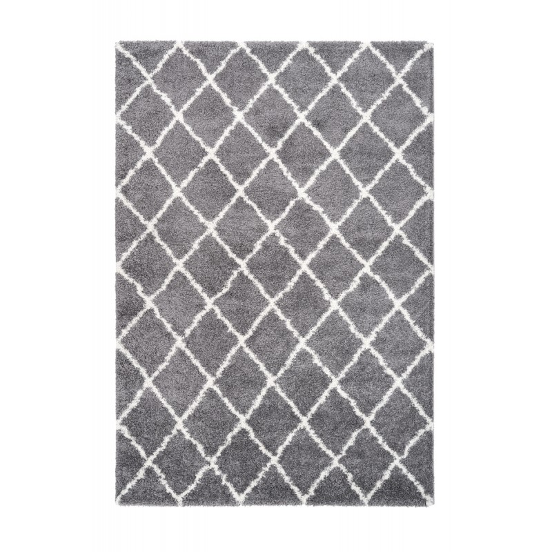 Graphic Guinea Rectangular Carpet Woven Machine Grey