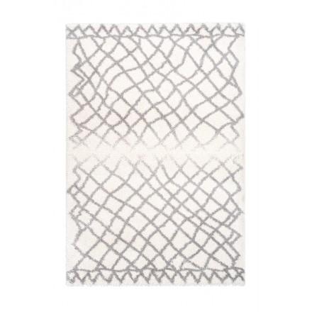 Grafischen Teppich rechteckig AVOLA gewebt Maschine (Elfenbein)