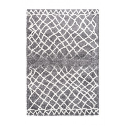 Graphic rug rectangular AVOLA woven machine (grey)