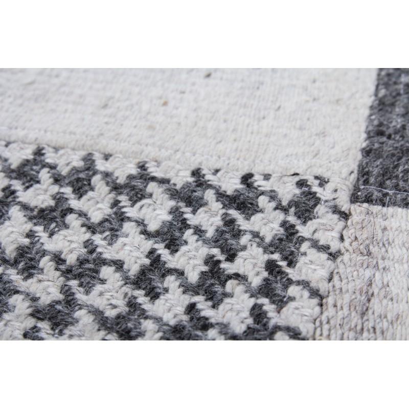 Tapis patchwork fait main VITTORIA rectangulaire fait main (Gris) - image 41722
