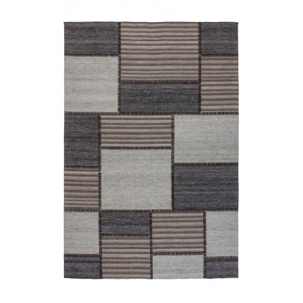 Phoenix rectangular graphic rug woven machine (Brown gray)