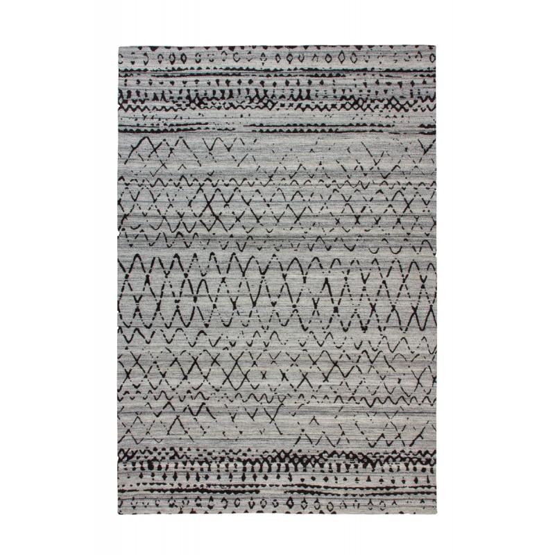 Tapis graphique DENVER rectangulaire tissé à la machine (Marron Gris) - image 41736