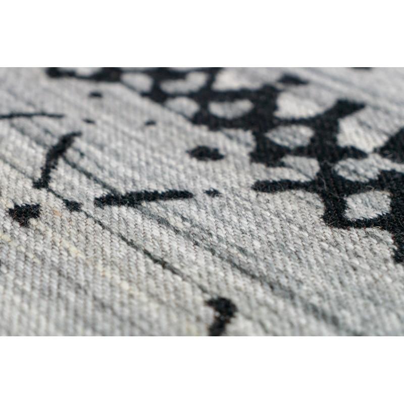 Tapis graphique DENVER rectangulaire tissé à la machine (Marron Gris) - image 41738