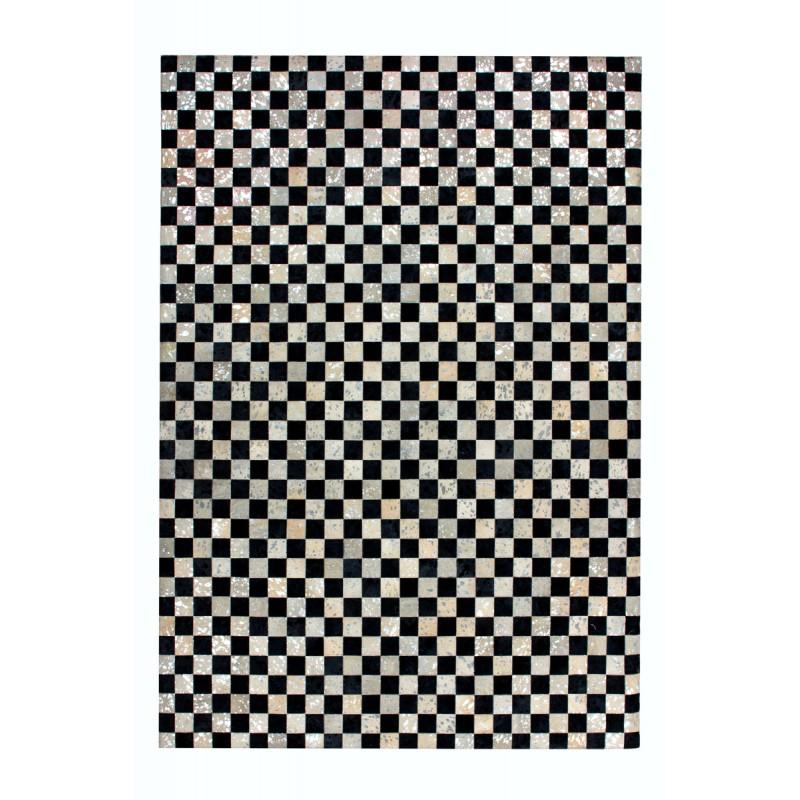 Tapis 100% cuir fait main TAMPA rectangulaire fait main (Gris  Gris anthracite) - image 41780