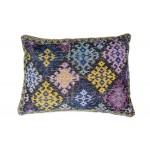 Coussin patchwork SAULIN rectangulaire fait main (Multicolore)