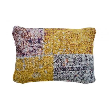 Coussin patchwork OMAHA rectangulaire fait main (Multicolore)