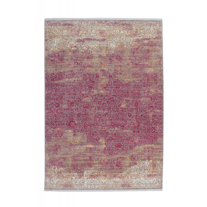 Tapis vintage ANTIGUA rectangulaire tissé à la machine (Orange Rouge) - image 41850