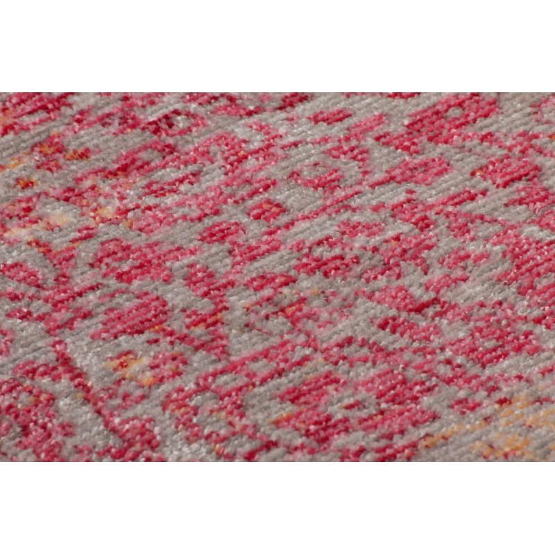 Tapis vintage ANTIGUA rectangulaire tissé à la machine (Orange Rouge) - image 41852