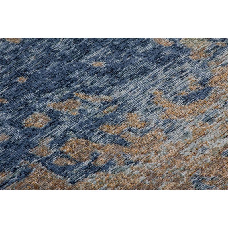 Tapis vintage BLAZE rectangulaire tissé à la machine (Beige Bleu) - image 41872