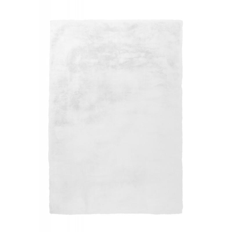 Tapis contemporain tufté à la main RABBIT rectangulaire tufté à la main (Blanc)