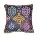 Coussin patchwork SAULIN Carré fait main (Multicolore)