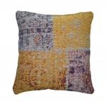 Coussin patchwork OMAHA Carré fait main (Multicolore)