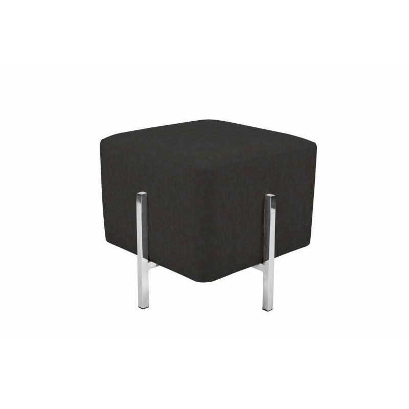 Pouf design CELYA (Noir gris argent) - image 41962