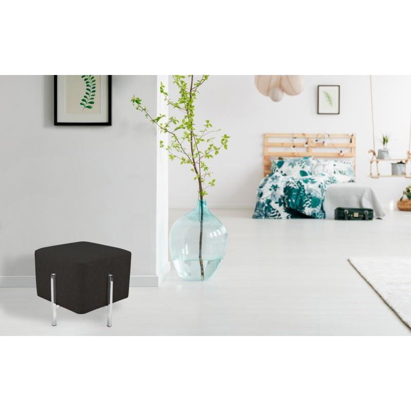 Pouf design CELYA (Noir gris argent) - image 41963