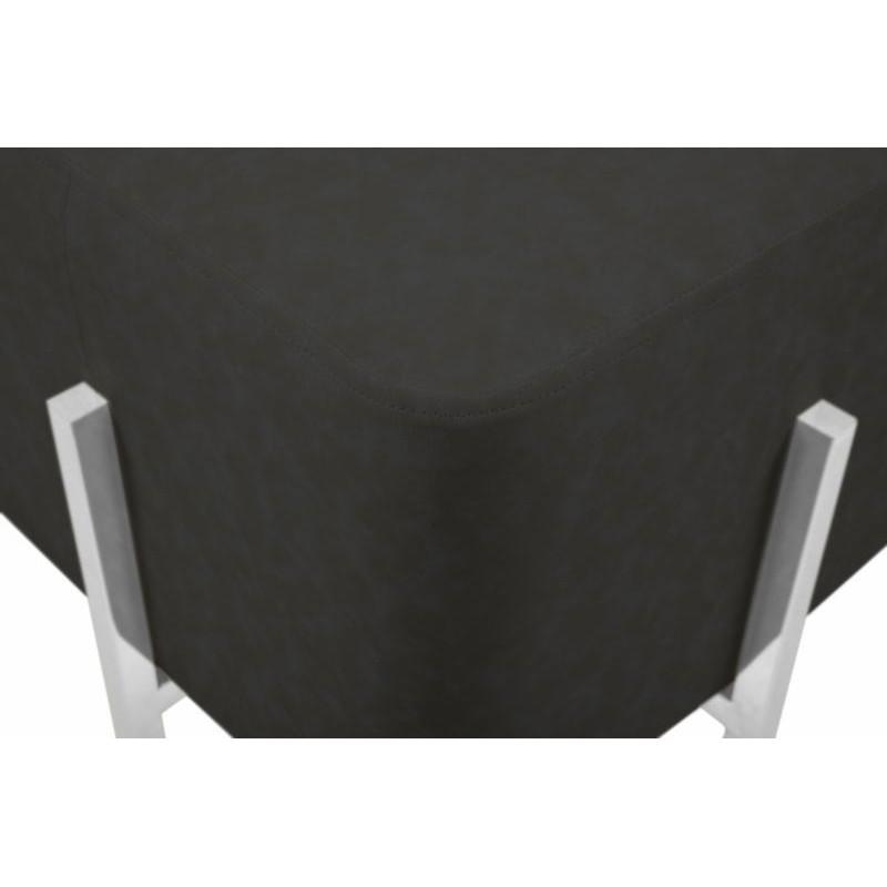 Pouf design CELYA (Noir gris argent) - image 41964