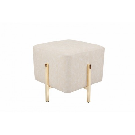 Pouf design ELONA (Golden cream)