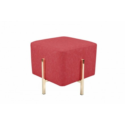 Pouf design ELONA (red gold)