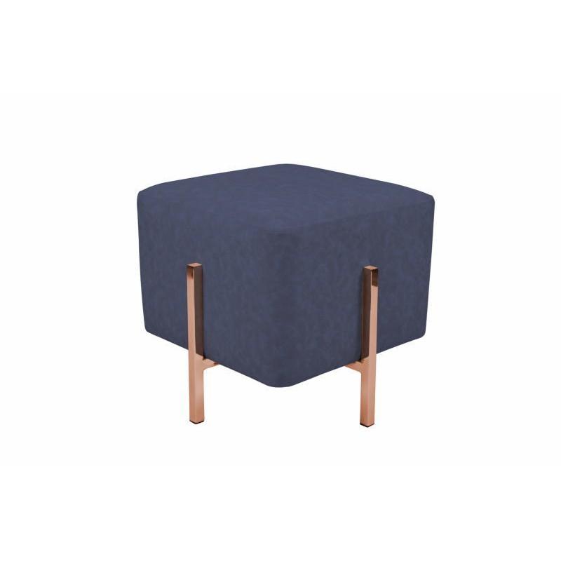 Pouf design LYSON (Bleu cuivre) - image 41987