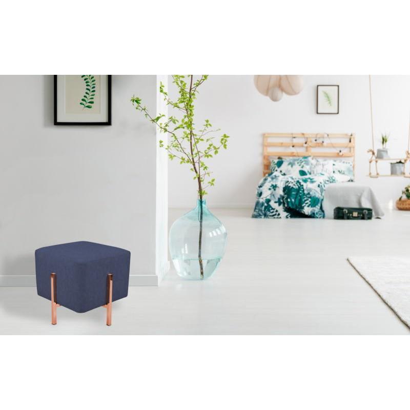 Pouf design LYSON (Bleu cuivre) - image 41988