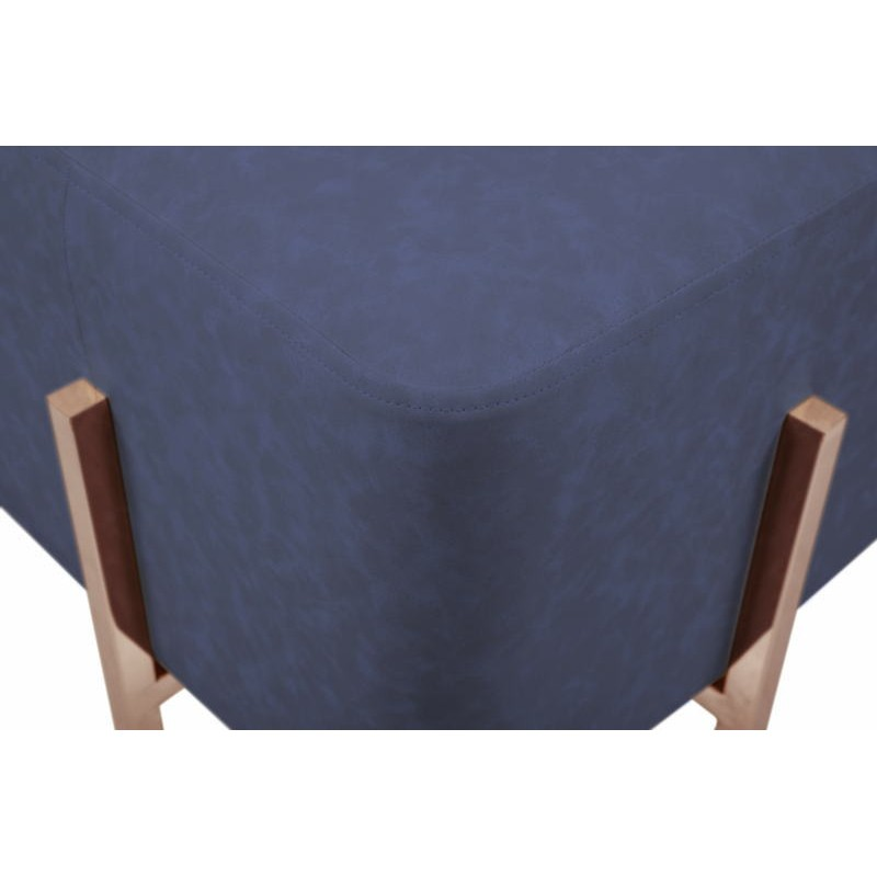 Pouf design LYSON (Bleu cuivre) - image 41989
