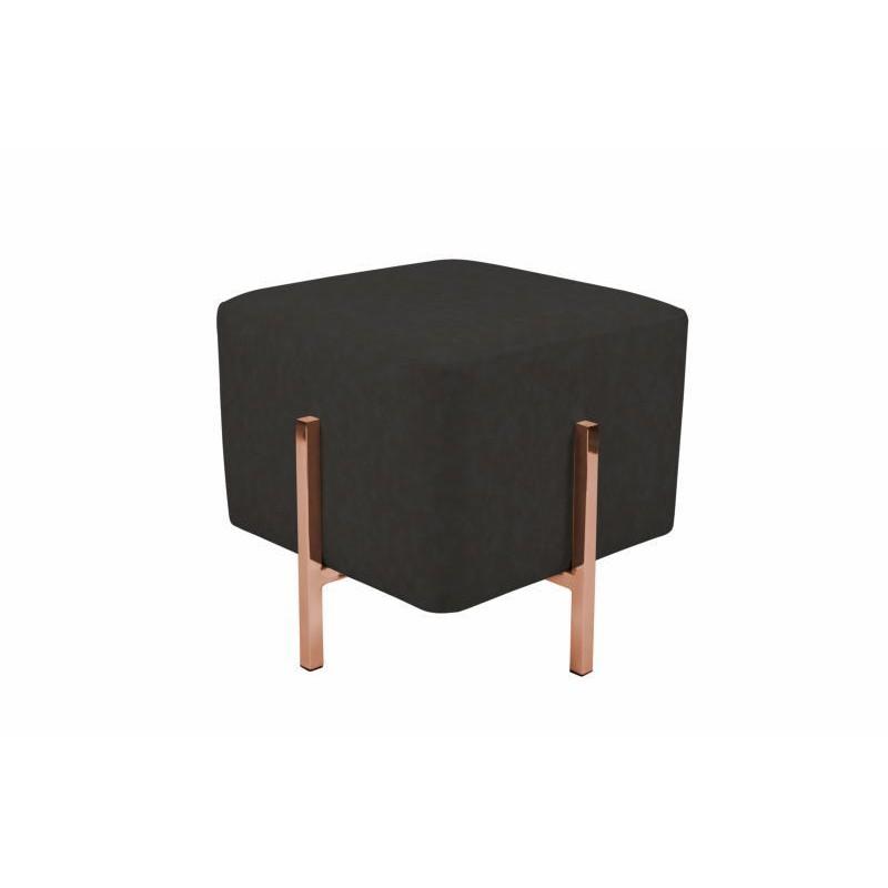 Pouf design LYSON (Gris noir cuivre) - image 41997