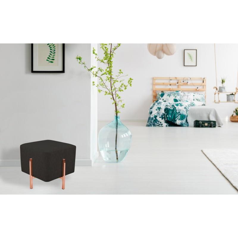 Pouf design LYSON (Gris noir cuivre) - image 41998