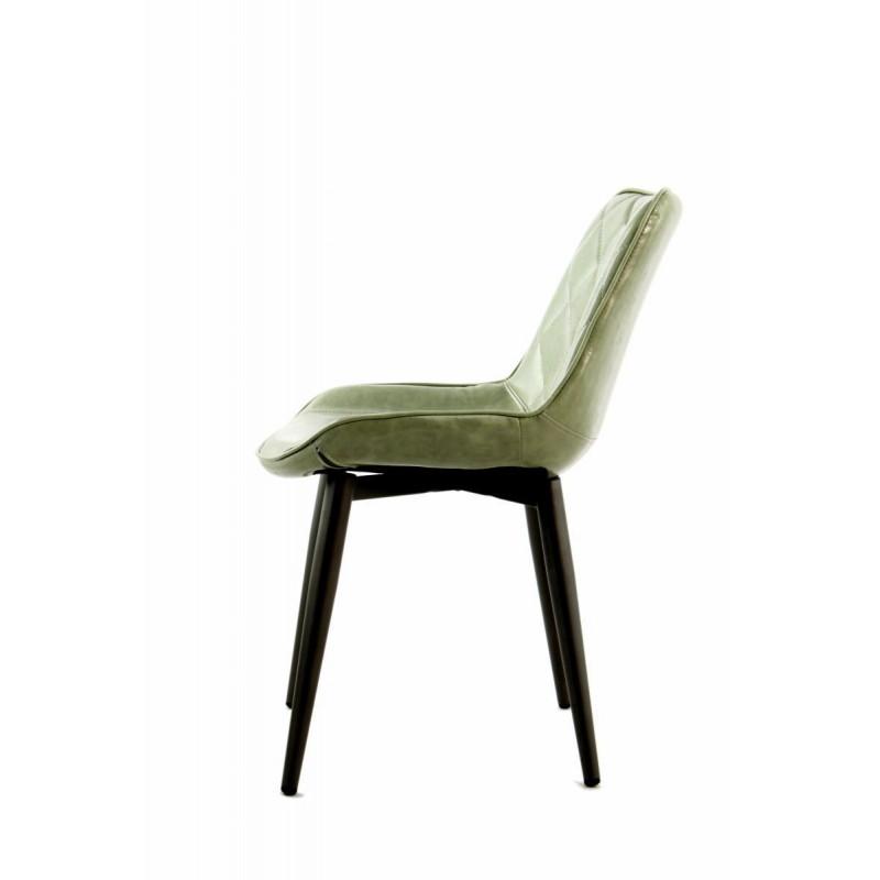 Lot de 2 chaises rétro matelassées EUGENIE (Vert) - image 42016