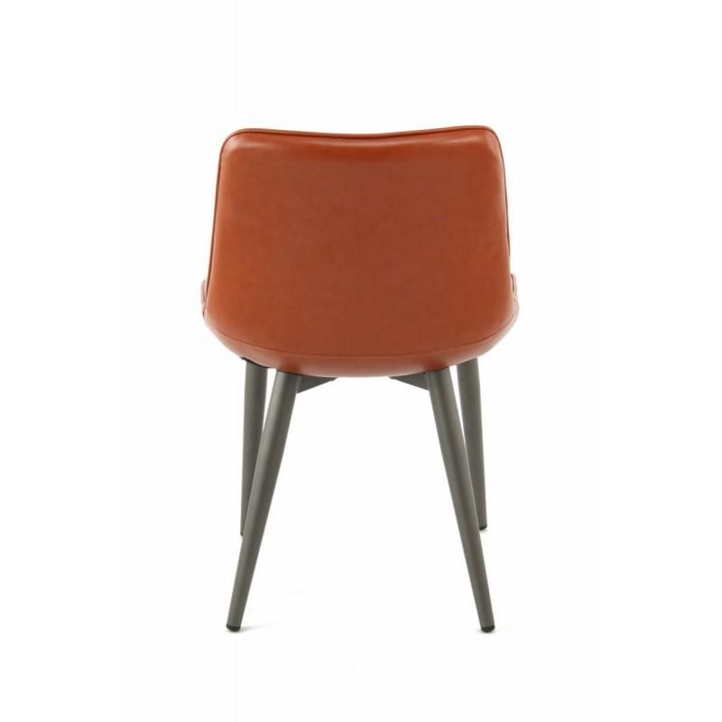 Lot de 2 chaises rétro matelassées EUGENIE (Marron) - image 42022