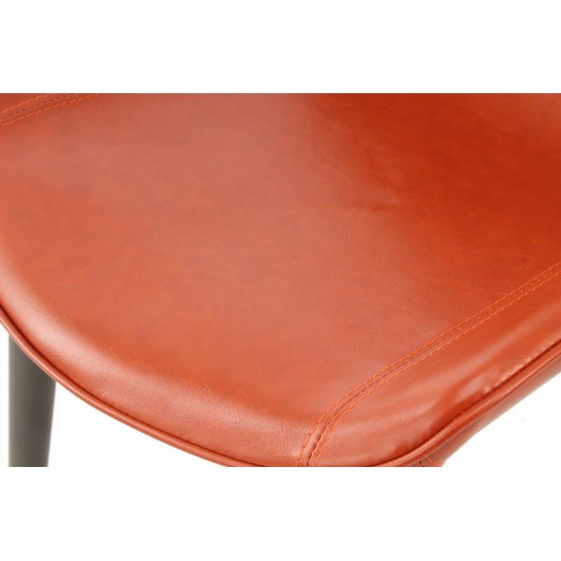 Lot de 2 chaises rétro matelassées EUGENIE (Marron) - image 42028
