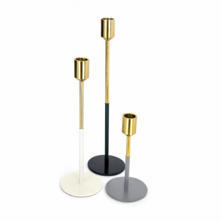 Set di 3 candelieri partito (oro, bianco, nero, grigio)