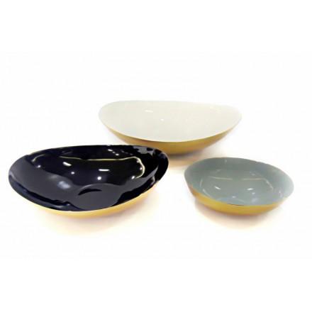 Set mit 3 Schalen Giebel (weiß, schwarz, grau)