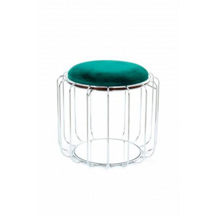Pouf, tabella velluto TAWNY (verde, argento)