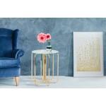 Table d'appoint, bout de canapé GUILIA en métal et verre (Doré)