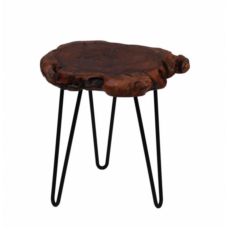 Fine tabella, tabella di estremità VESNA in metallo e legno (naturale) - image 42712