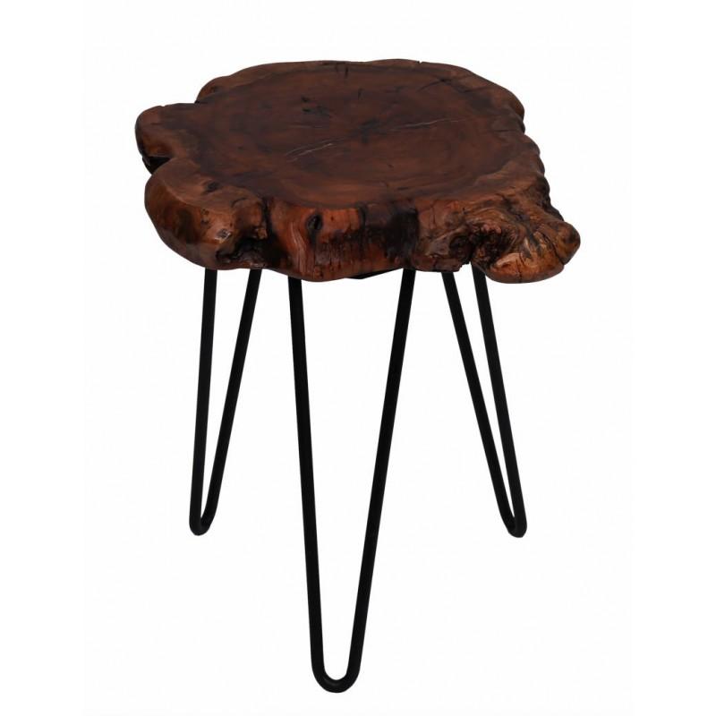 Fine tabella, tabella di estremità VESNA in metallo e legno (naturale) - image 42713