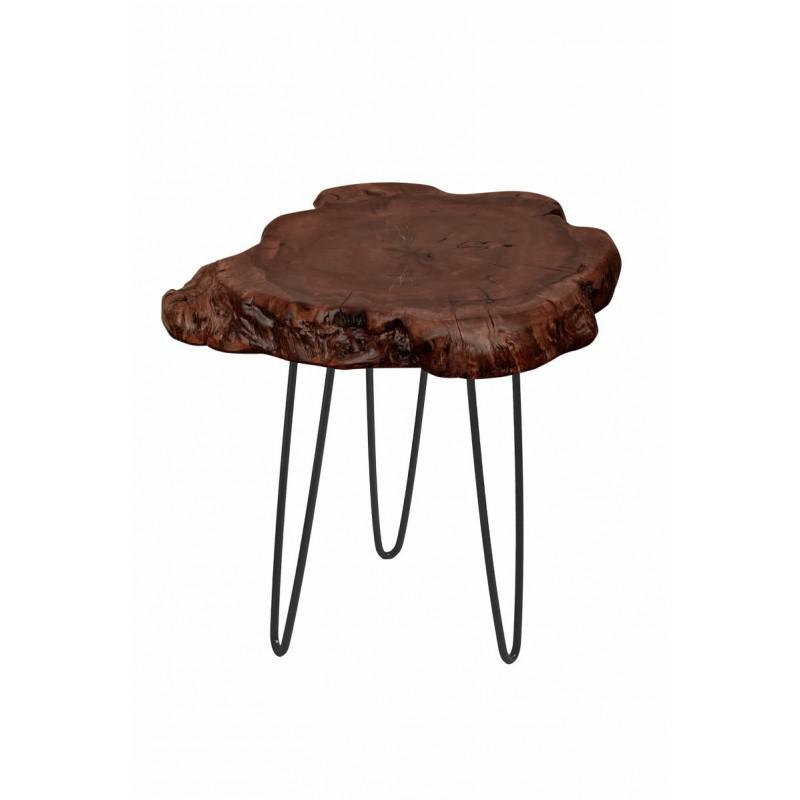 Fine tabella, tabella di estremità VESNA in metallo e legno (naturale) - image 42714