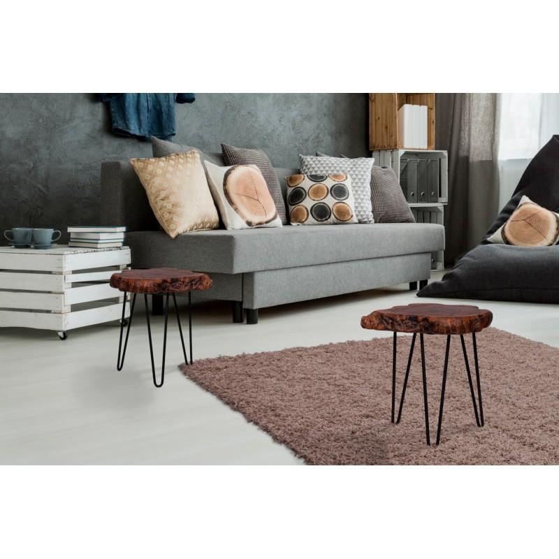 Fine tabella, tabella di estremità VESNA in metallo e legno (naturale) - image 42715