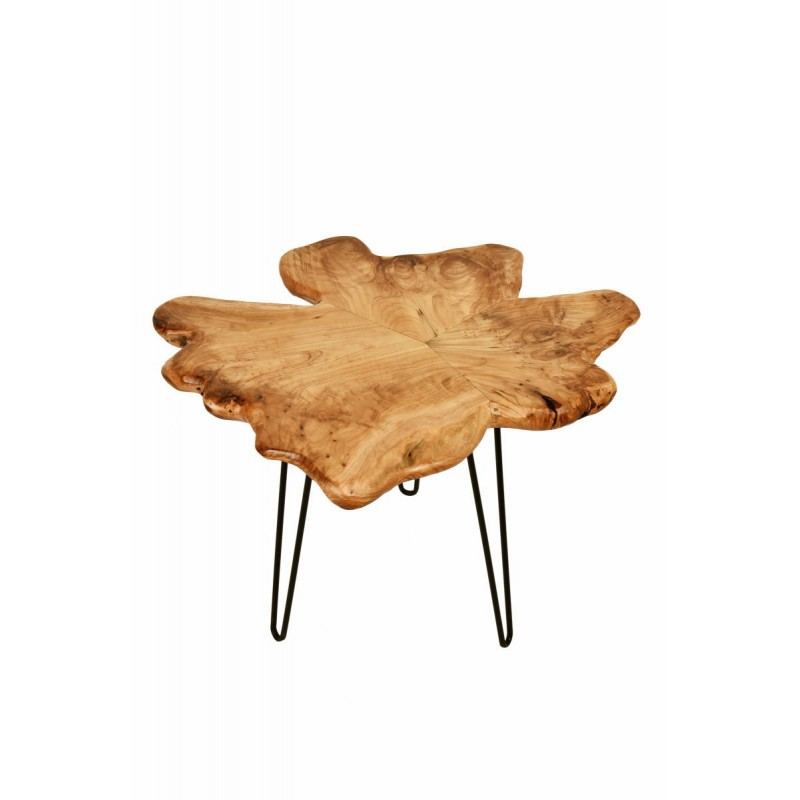 Beistelltisch, Beistelltisch ALYSSA Metall und Zeder Holz (Natur)