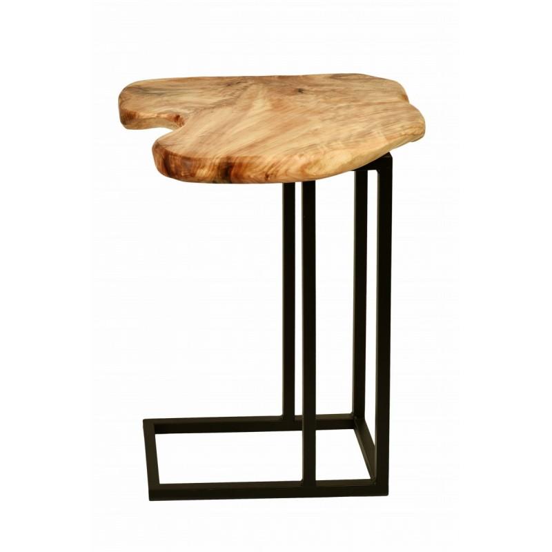 Beistelltisch, reich an Metall und Holz der Zeder (natürlichen) Kabelbaum - image 42737