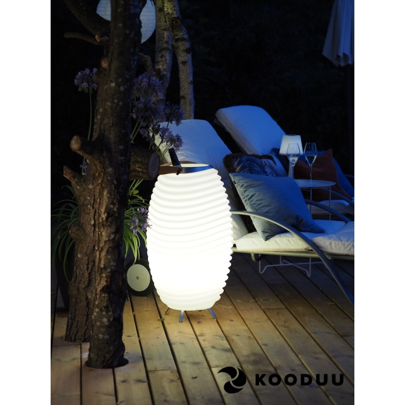 Lamp LED bucket champagne pregnant speaker bluetooth KOODUU synergy 35PRO (white) - image 42853