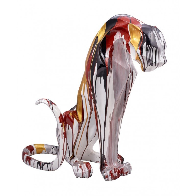 Statuette design decorative sculpture Panther Savannah resin H100 (multicolor) - image 42895