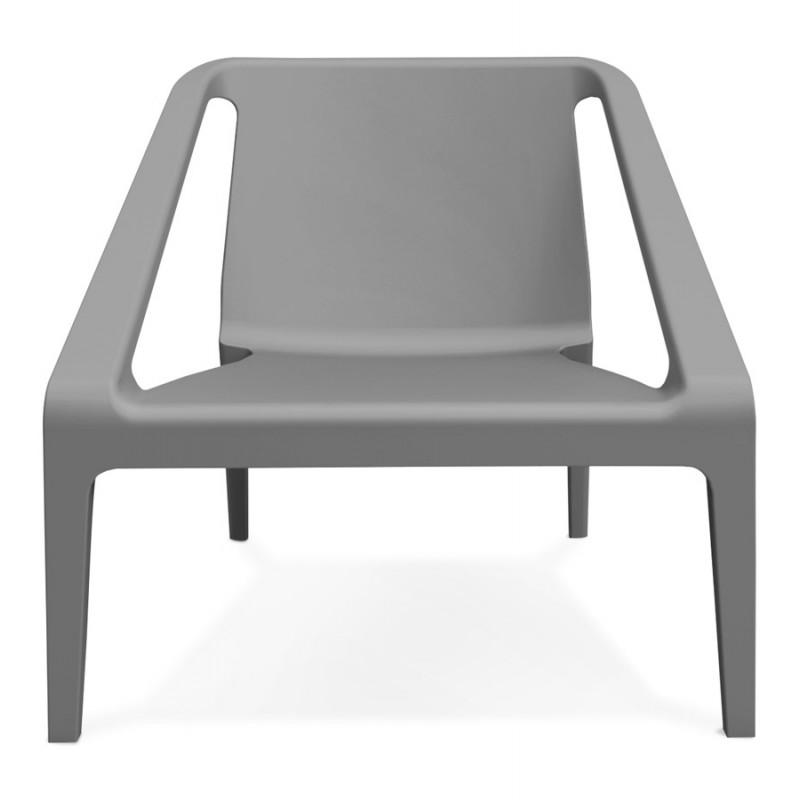 Fauteuil de jardin relax design SUNY (gris foncé)