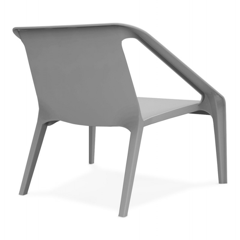 Fauteuil de jardin relax design SUNY (gris foncé) - image 42911