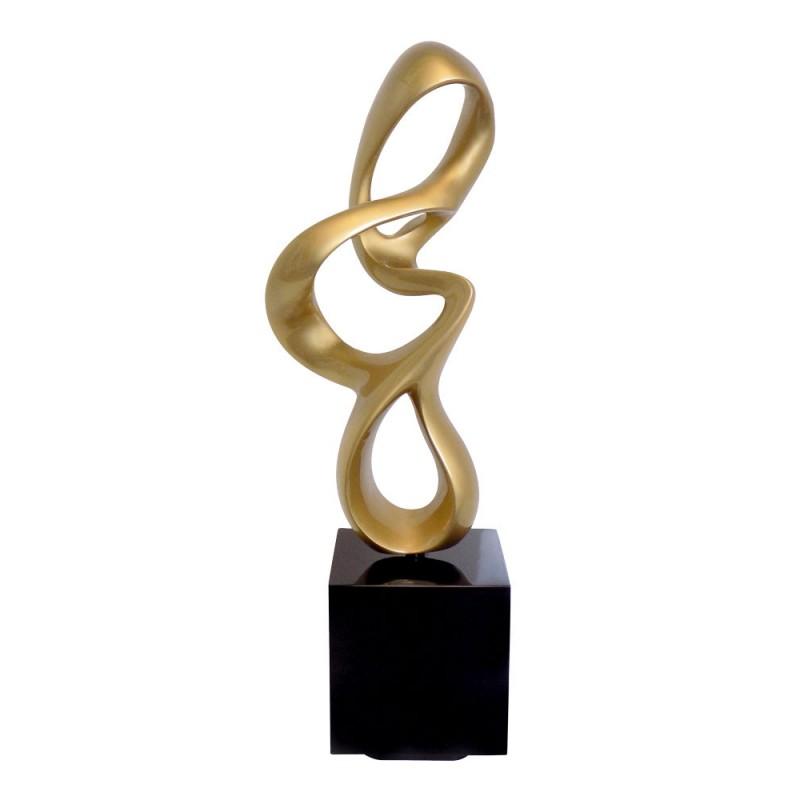Diseño de escultura decorativa de la estatua embarazada Bluetooth MOVIMIENTO en resina (Oro) - image 42984