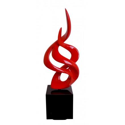 Statua disegno scultura decorativa incinta Bluetooth NIGHT SONG in resina (rosso)