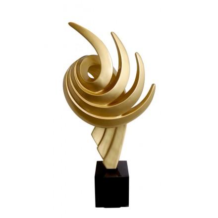 Diseño de escultura decorativa de la estatua embarazada Bluetooth EL PASTING en resina (Oro)