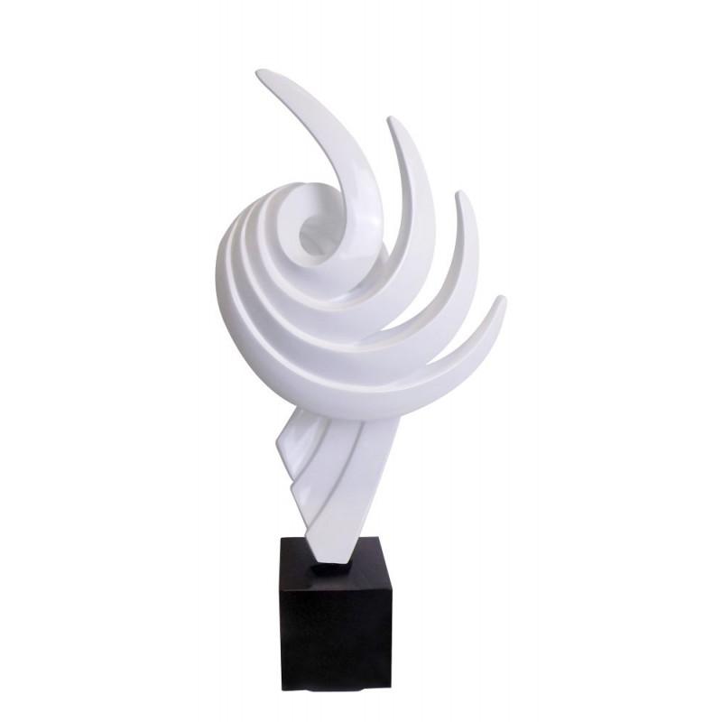 Diseño de escultura decorativa de la estatua embarazada Bluetooth EL PASADO en resina (Blanco)