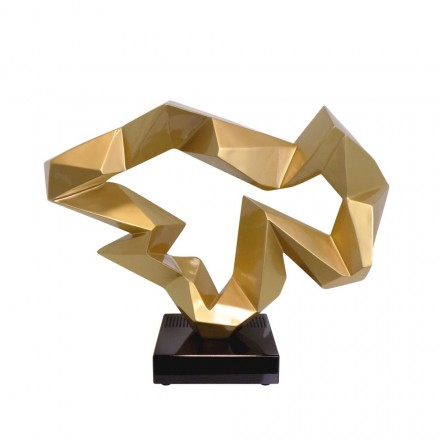Statue dekorative Skulptur Design schwangere Bluetooth ICE FLOW in Harz (Golden)